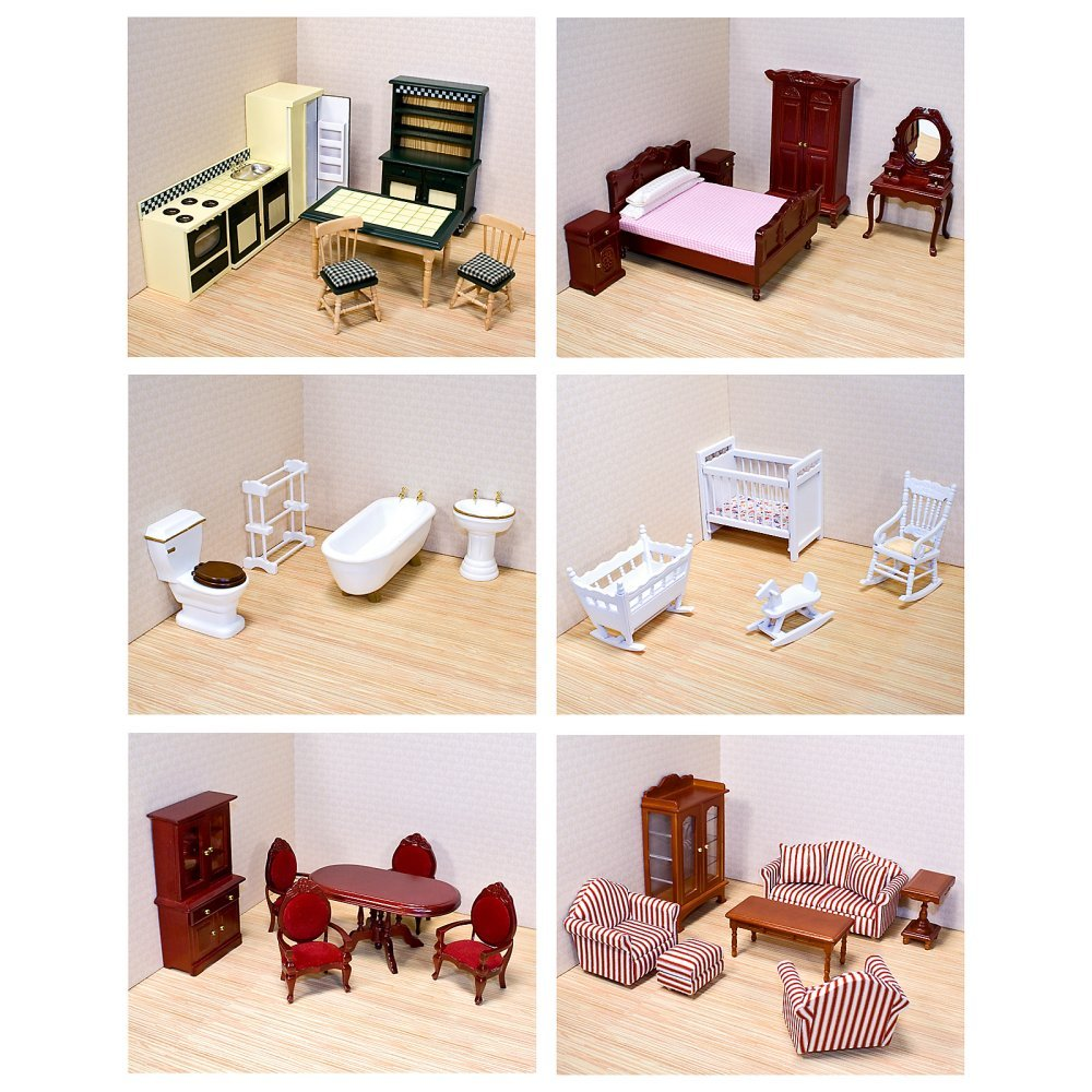 Melissa And Doug Dollhouse Furniture Living Room Set