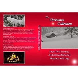 Christmas Collection: A Christmas Snowfall, Snow for Christmas and Fireplace Yule Log [Blu-ray]