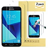 Galaxy J7 Prime Screen Protector 2 Pack Tempered Glass Screen Protector for Galaxy J7 (2017) J7 V J7 Perx
