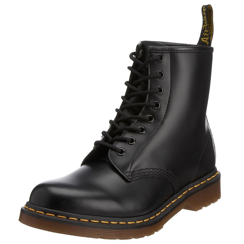 Dr. Martens Womens 1460 W 8-Eye Boot Patent Black - 6 F(M) UK