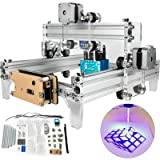 VEVOR CNC Machine 15W CNC Laser Engraving Machine 240x190mm Mini Laser Engraver Household Laser Engraver with Protective Glasses and USB Cable for DIY Art Craft Wood Leather Plastic (Tamaño: 240x190 mm)