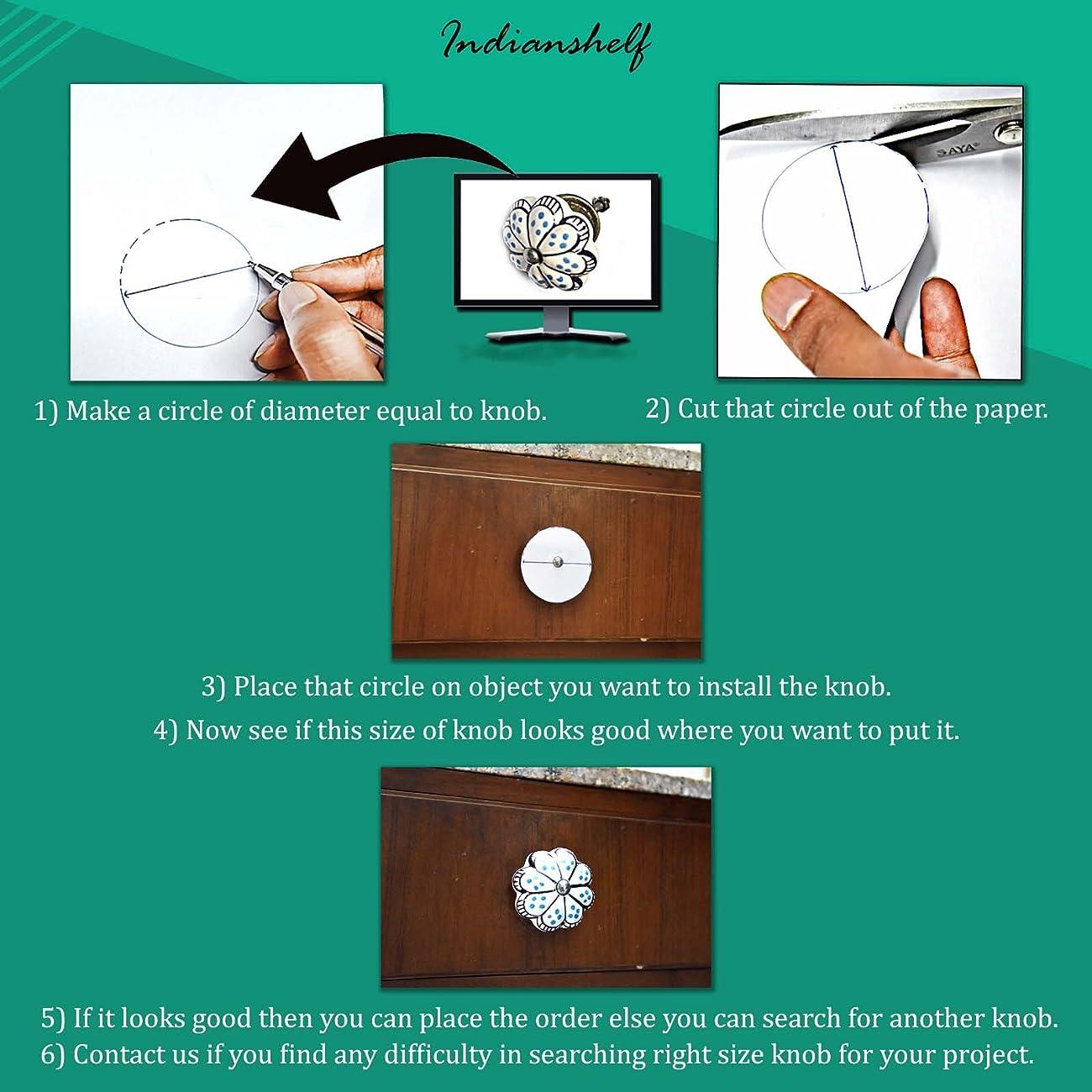 Set of 10 Handmade Glass Knobs Clear Vintage Designer Flower Shape Furniture Handle Cabinet Drawer Pull Silver Finish 2