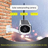 Solar Waterproof Outdoor IP Camera Wifi Wireless Security System Surveillance with Night Vision, Remote View and Control, Motion Detection and Push Alerts, IR Night Vision, Support iOS Android Windows (Color: White, Tamaño: Large)