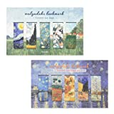Monolike Magnetic Bookmarks Vincent Van Gogh, 10 Pieces (Color: Mix, Tamaño: Package size : 3.74x6.1 (IN))