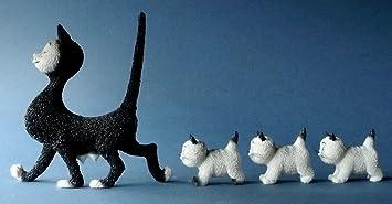 Figurine Chat : Les chats de Dubout - La promenade
