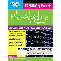Pre-Algebra Tutor - Learning By Example - Adding & Subtracting Expressions