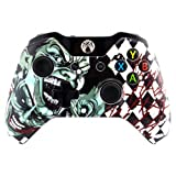 eXtremeRate Joker Faceplate Cover, Hydro Dipped Front Housing Shell Case, Replacement Kit for Microsoft Standard Xbox One Controller (Color: Joker)