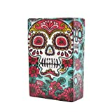 Cigarette Case/Box - King Size Cigarettes New Design Fancy Style Box-Red Flower Green (Color: Red Flower Green)
