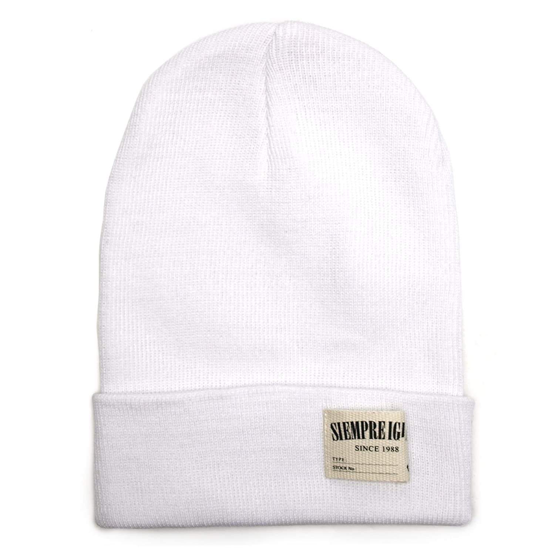 Amazon.co.jp: (トライバル)TRIBAL コットン 柔らかフィット ラベル付きシンプルコットンニット帽 ホワイト: Amazonファッション通販