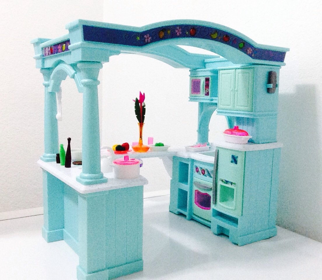 Dollhouse doll furniture barbie size room playset toy for House kitchen set
