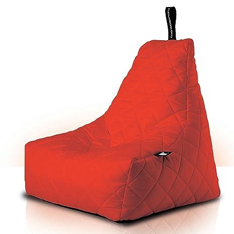 B-bag mighty-b Quilted, alcolchonado) per interni/esterni, Pouf de Lujo, Poltrona confortevole, Rosso, 9200–2