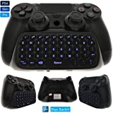 Whiteoak PS4 Keyboard, Wireless Mini Backlit Chatpad, Great KeyPad Adapter for PlayStation 4 PS4, Slim, Pro Controller - 2.4GHz Receiver included