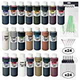 Jacquard Pinata Ultimate Ink Bundle, All 22 Colors in 4-Ounce Size, 24x Pixiss 20ml Needle Tip Applicator and Refill Bottles, 4X 1.5 inch Funnels and 10x Pixiss Alcohol Ink Blending Tools