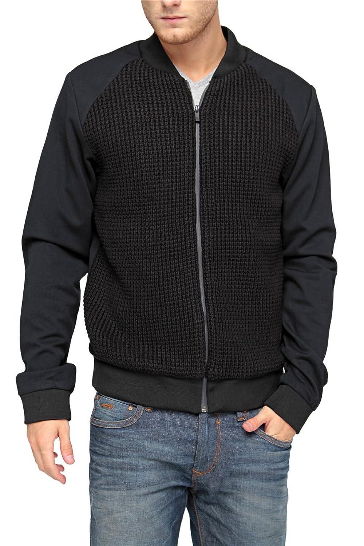 Scotch & Soda Herren Blouson-Jacke BOMBER SHAPED MIX, Farbe: Dunkelblau jetzt kaufen