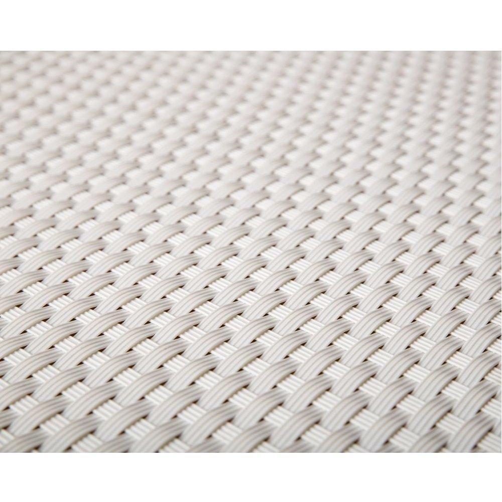 Viva-Haushaltswaren - 5 Meter hochwertiger Balkonsichtschutz / Zaunblende aus Polyrattan - Höhe 0,8 Meter / Farbe: weiß