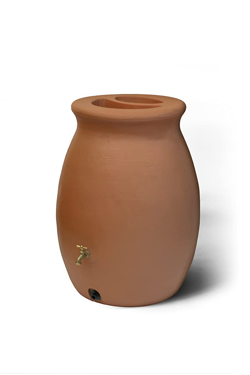 Algreen Products Castilla Rain Barrel 50-Gallon, Terra Cotta