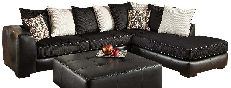 Chelsea Home Furniture Grant 2-Piece Sectional - San Marino Ebony/Martin Ebony/Beach/Peppercorn