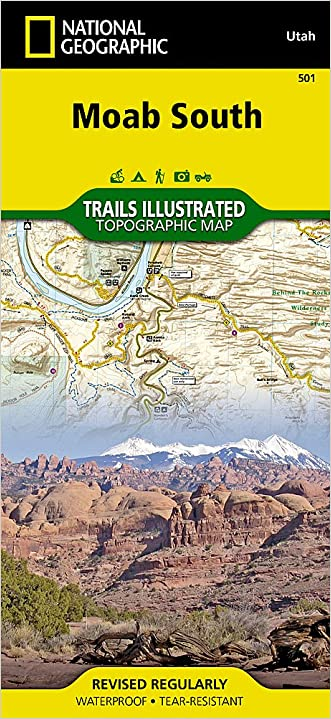 Moab South (National Geographic Trails Illustrated Map) written by National Geographic Maps - Trails Illustrated