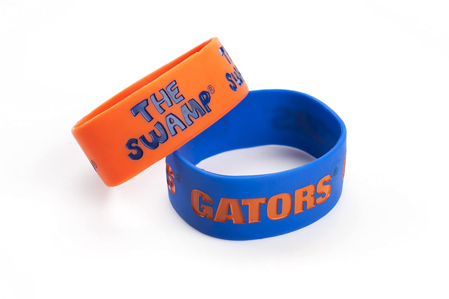 NCAA Florida Gators Silicone Rubber Bracelet Set, 2-Pack ncaa central florida knights aztec can koozie set of 4