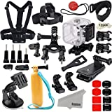 Kupton Accessories for GoPro Hero 5 Session/ Hero Session Bundle Action Camcorder Camera Accessories Mounts Waterproof Housing Case Chest Head Bike Car Backpack Clip Mount