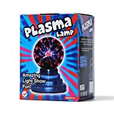 Plasma Ball Touch Sensitive 3 Inch Small Plasma Lamp Usb Or Battery Power Supply Lightning Sphere Light (Color: Multi-colored)