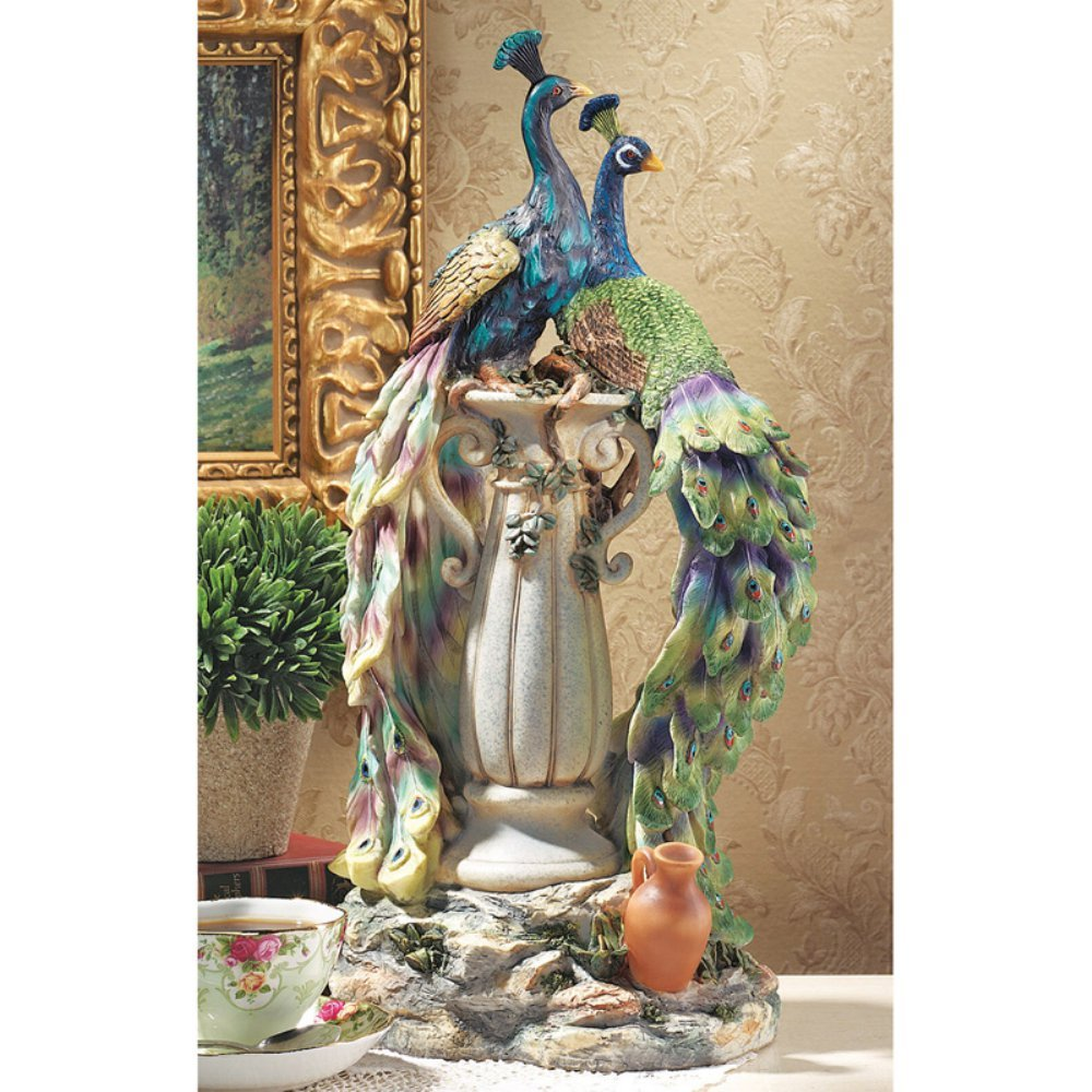 beautiful peacock statues for lawn and garden peacock sculpture. Black Bedroom Furniture Sets. Home Design Ideas