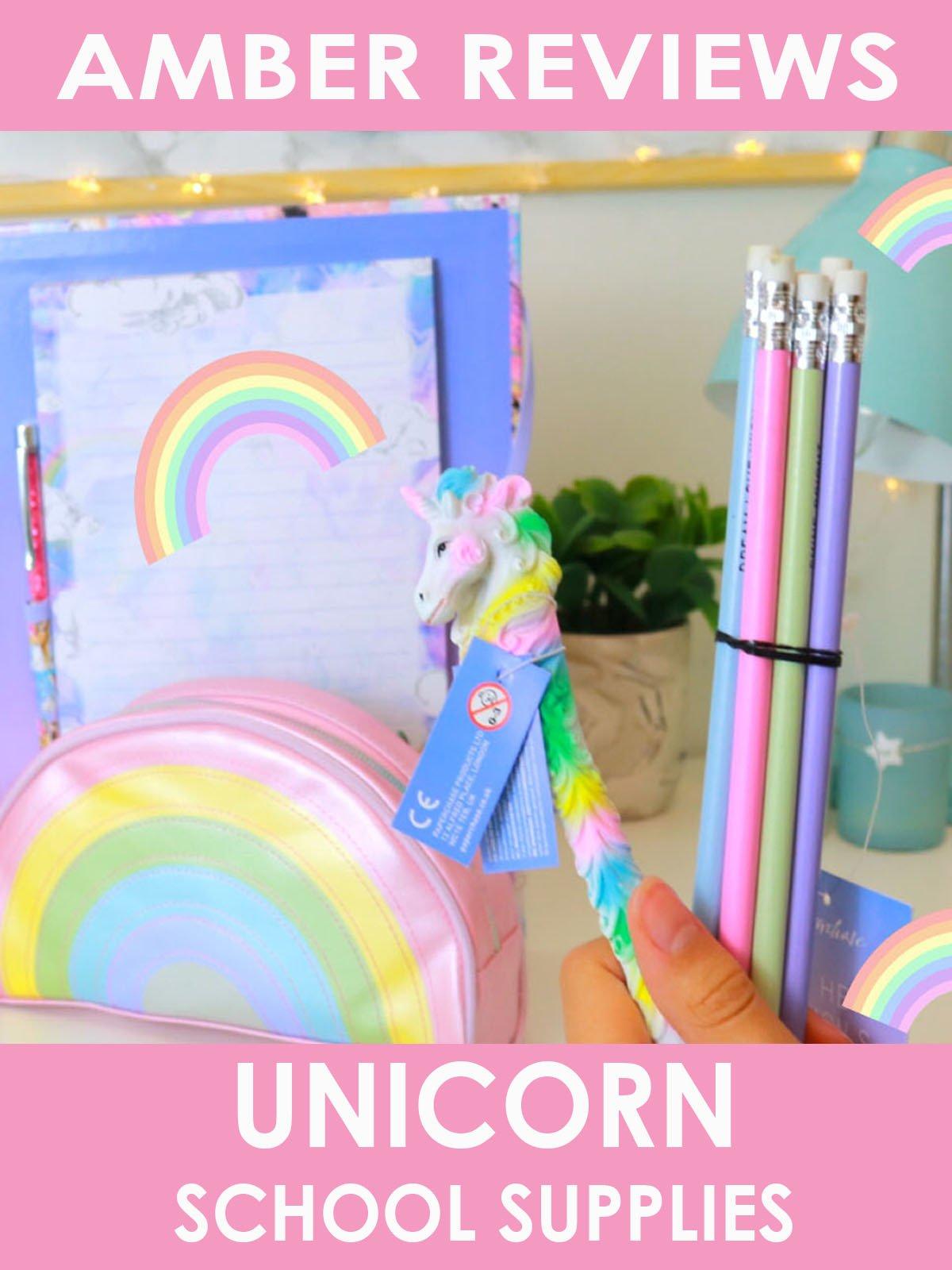 Amber Reviews Unicorn School Supplies