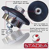 Stadea PWW108K Stone Granite Diamond Profile Wheel - 3/16