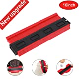 Contour Gauge Duplicator, 10 Inch Shape Contour Gauge Duplicator/Tools Mode Contour/Copy Gauge Contour Gauge Duplicator/Standard Wood Marking Tool/Tiling Laminate Tiles General Tools (Red) (Color: Red)