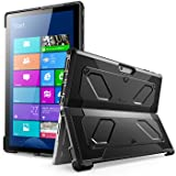 The New Surface Pro 2017 Case, [Heavy Duty] i-Blason Armorbox Dual Layer Hybrid Full-body Protective Kickstand Case Compatible With Microsoft Surface Pro 4 2015 [NO BUILT IN SCREEN PROTECTOR] (Black) (Color: Black)