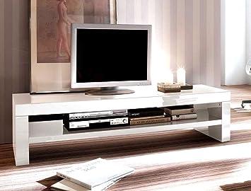 Lowboard Giza 160x40x45 cm weiß Hochglanz TV-Board TV-Möbel TV-Schrank Unterschrank