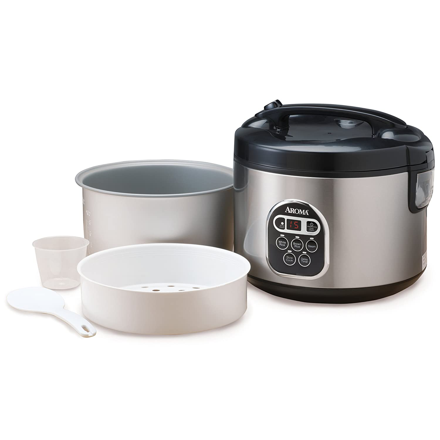 new aroma arc 150sb 10 cup uncooked 20 cup cooked digital rice cooker and ebay. Black Bedroom Furniture Sets. Home Design Ideas