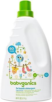 Babyganics 3X Baby Fragrance Free 60 Fluid Oz Laundry Detergent