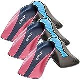 (Set/3) Plantar Fasciitis Proven Shock Absorbing Heel Cup Insoles - Womens (Color: Pink, Tamaño: 6)