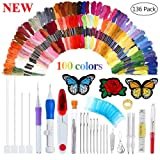 New Magic Embroidery Pen Punch Needle Embroidery Patterns Punch Needle Kit Craft Tool Embroidery Pen Set, Threads for Sewing Knitting DIY Threaders (Tamaño: Magic Embroidery kit)