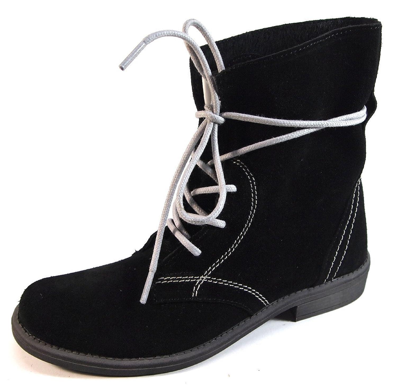 Jane Klain Mädchen Leder Boots 462-120 Schnürer (006) schwarz Gr.33-40 Stiefeletten jetzt kaufen