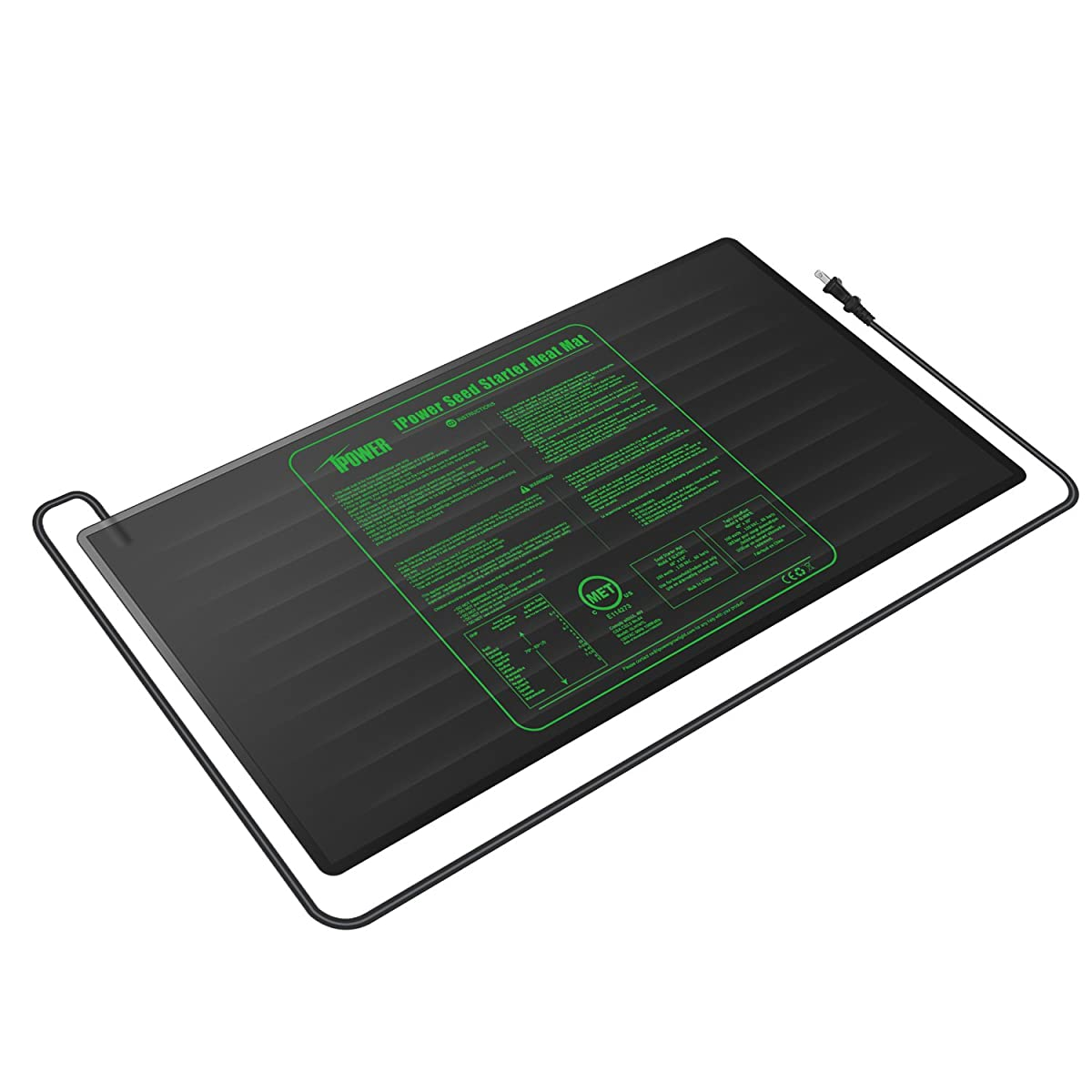 """iPower Large Seedling Heat Mat 48"""" x 20"""" Warm Hydroponic Heating Pad with Durable Waterproof Design"""