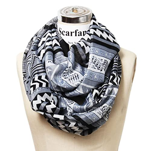Scarfands Mixed Infinity Brick Scarf