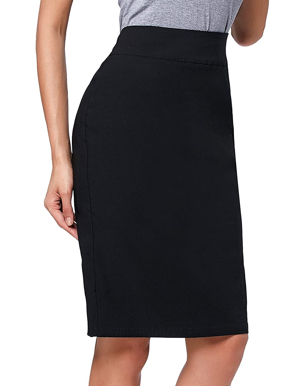 Kate Kasin®Women's Vintage Knee-Length Split Pencil Skirts 2