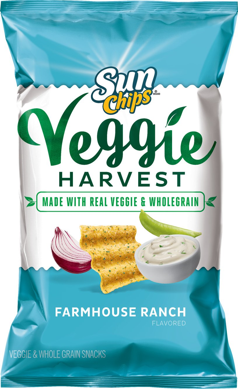 Sunchips Veggie Harvest Chips, Farmhouse Ranch, 7 Ounce