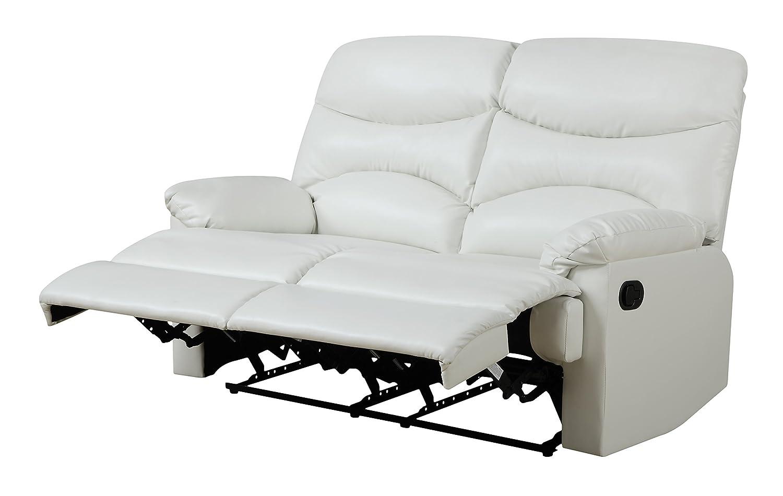 Glory Furniture G459-RL Reclining Loveseat - White