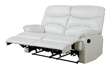 Glory Furniture G459-RL Reclining Loveseat, White