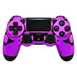 eXtremeRate Chrome Purple Edition Faceplate Cover, Front Housing Shell Case Replacement Kit for Playstation 4 PS4 Slim PS4 Pro Controller (CUH-ZCT2 JDM-040 JDM-050 JDM-055) (Color: Chrome Purple)