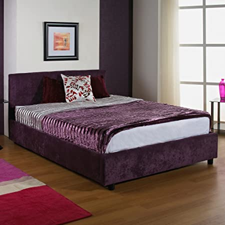 "Hf4you Ruby Upholstered Bedstead - 3ft 6"" Large Single - Wholemeal Finish - 9"" Orthopaedic Mattress"