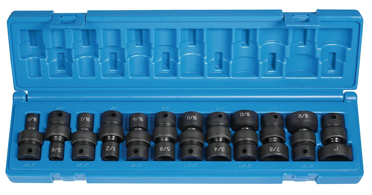 Grey Pneumatic (1212U) 3/8 Drive 12-Piece 6-Point Socket Set 2 set 1 2 male bspt air compressor pneumatic quick coupler connector socket fittings set