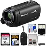 Panasonic HC-V380 Wi-Fi HD Video Camera Camcorder with 32GB Card + Case + LED Light + Kit (Color: Black)