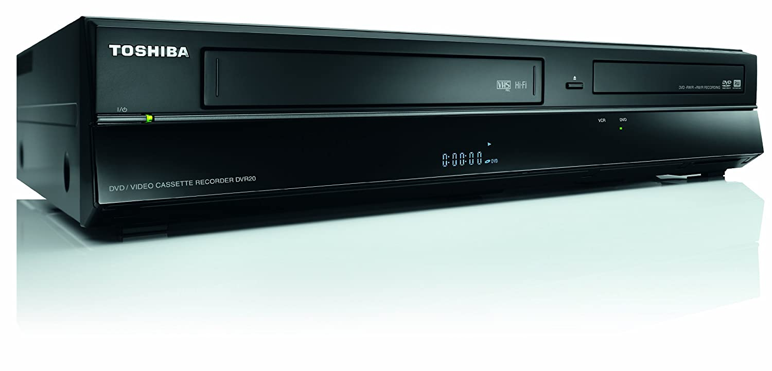 toshiba dvr20 digital dvd recorder dual vcr video with. Black Bedroom Furniture Sets. Home Design Ideas