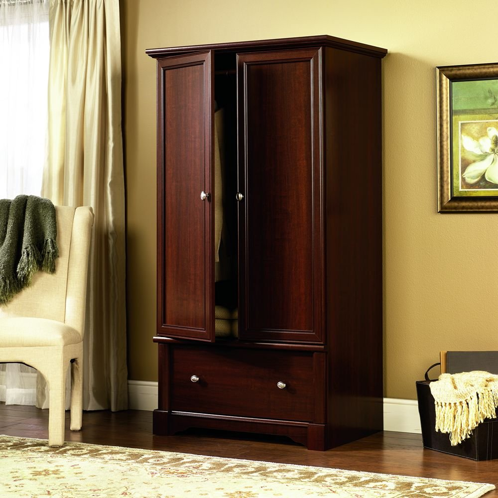 free standing wooden wardrobe closets. Black Bedroom Furniture Sets. Home Design Ideas