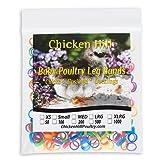 Baby Poultry Leg Bands 1/4 Medium Chick (100) (Color: Mixed; Blue, Pink, Green, Orange, Yellow, Purple, Tamaño: Medium 1/4