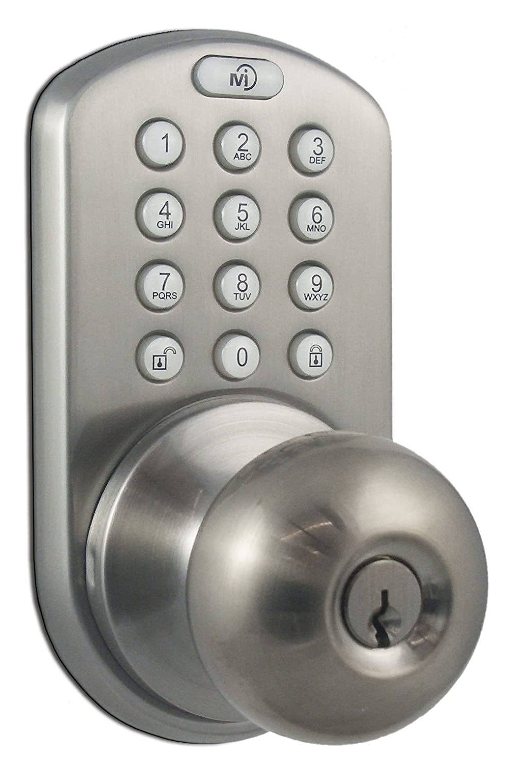 milocks dkk02sn electronic touchpad entry keyless door lock satin nickel new free shipping